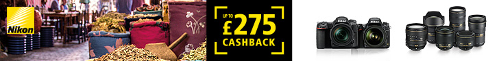 Up to £275 cashback on selected New Nikon