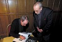 Simon Marsden signs his book for Allan Withers